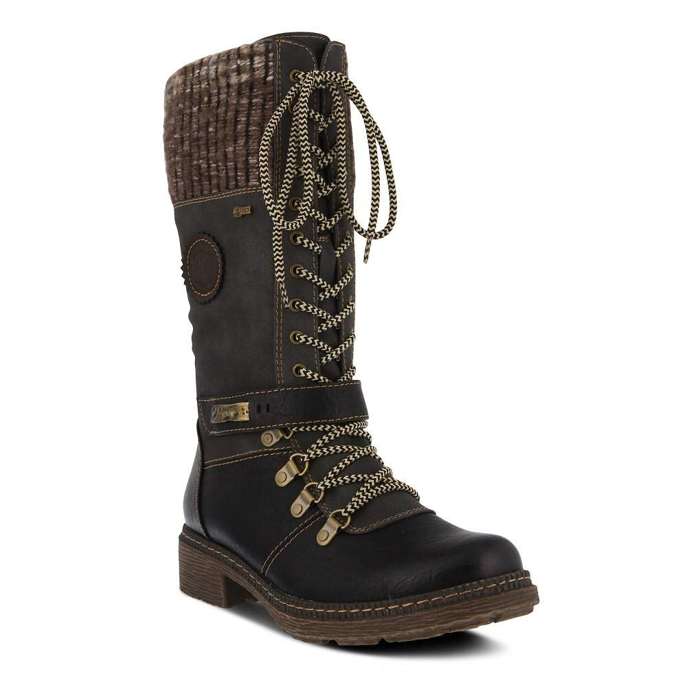 - Spring Step Women's Ababi Boot   color Black  Winter Vegan Leather Boot