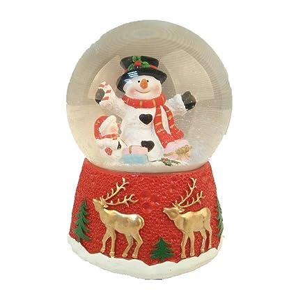 lightahead christmas musical polyresin snow globe water ball snowman - Christmas Musical Snow Globes