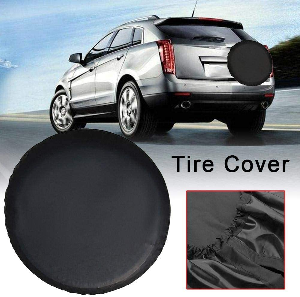 Exuberanter Spare Wheel Covers 14 Inch PVC Imitation Leather Heavy Duty Waterproof Anti-UV Wheel Cover Wheelcover Spare Tyre Bag For Cars Wheels Accessories