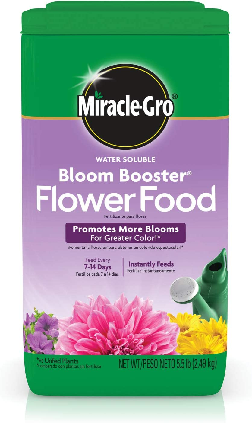 Miracle-Gro Water Soluble Bloom Booster Flower Food - Big Blooms for Vibrant Color, 5.5 lb.