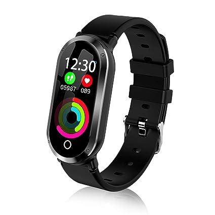 fe5fc26171c Amazon.com  TOP-MAX Fitness Tracker Watch Waterproof HR Activity ...