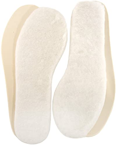 1 Pair of Lambland Genuine Lambswool Insoles with Latex Backing