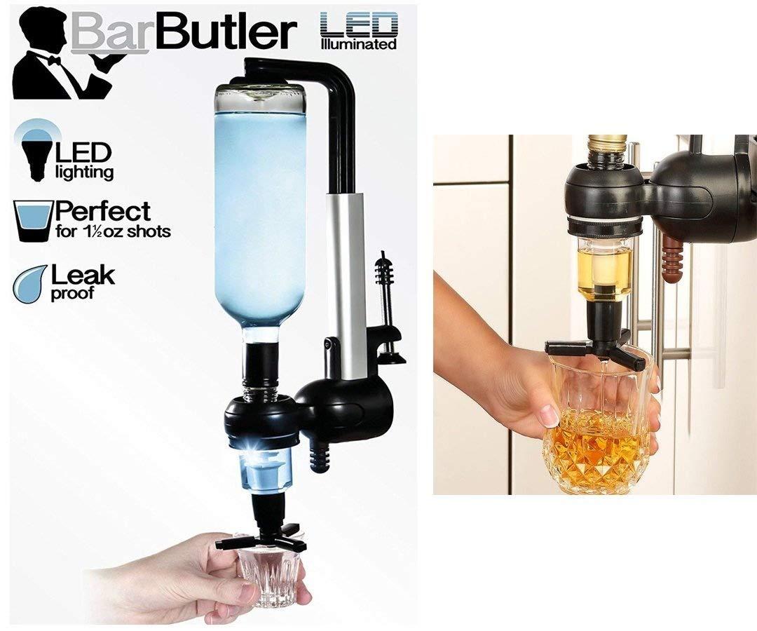 LED 1L LED ILLUMINATED BAR BUTLER SPIRIT OPTIC WALL TABLE ALCOHOL DISPENSER CLAMP UniSpair Addliquid