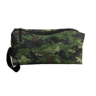 Portable Green Pattern Receiving Package Makeup Bag Pencil Pen Case Makeup Bag Set For Unisex