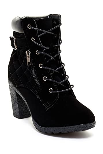 CA Collection Womens Fashion Quilted Padded Cuff Booties