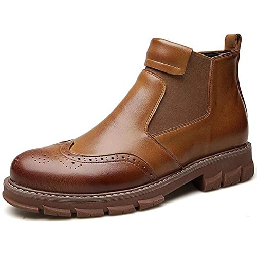 Hombres Chelsea Botas Invierno Estilo británico Brogue Bota Zapatos para Hombres Casual Martin Botas Moda Botines: Amazon.es: Zapatos y complementos