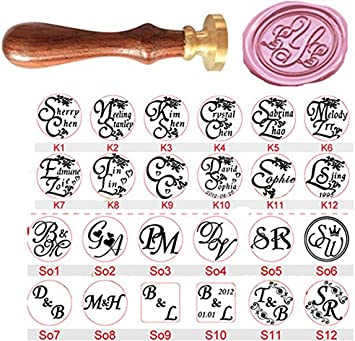 Wedding Invitation Wax Seal Stamp Greetings Personalized Letter Picture Logo