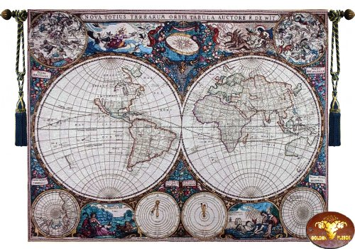 Used, [Free Shipping] Beautiful World Map Antique Large II for sale  Delivered anywhere in USA