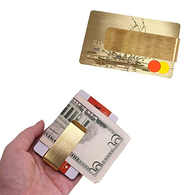 d3a1077aef2 4 Packs Copper Money Clip, SourceTon Slim Wallet, Credit Card Holder,  Minimalist Wallet - Copper at Amazon Men's Clothing store: