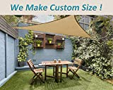 LOVE STORY 12' x 12' x 12' Triangle Sand UV Block Sun Shade Sail Perfect for Outdoor Patio Garden We Make Custom Size