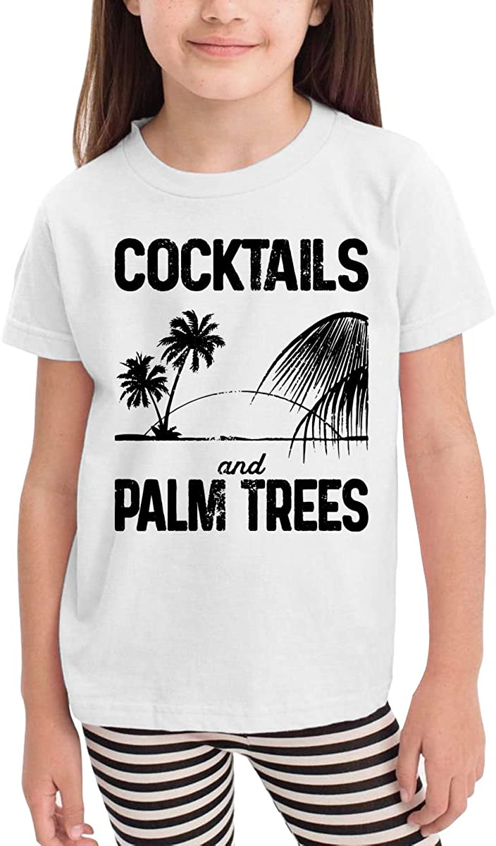 Onlybabycare Cocktails Palm Trees Toddler Boys Girls Short Sleeve T Shirt Kids Summer Top Tee 100/% Cotton Clothes 2-6 T