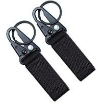 CoWalkers Tactical Gear Clip, Nylon Key Ring Holder o Tactical Belt Keepers Military Utility Hanger Mosquetón Gancho táctico 2 Pcs