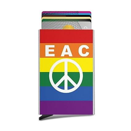 Funda para tarjeta RFID, signos de paz, banderas de arcoíris ...