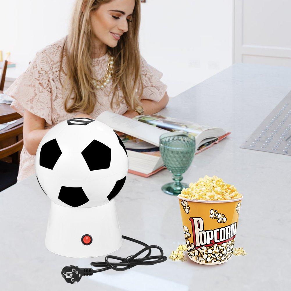 1200 W creativa Fútbol eléctrico (Aire Caliente palomitas máquina maker Popper 220 V , Soccer Pop Palomitero, diseño de balón de fútbol de 27 x 17 cm: ...