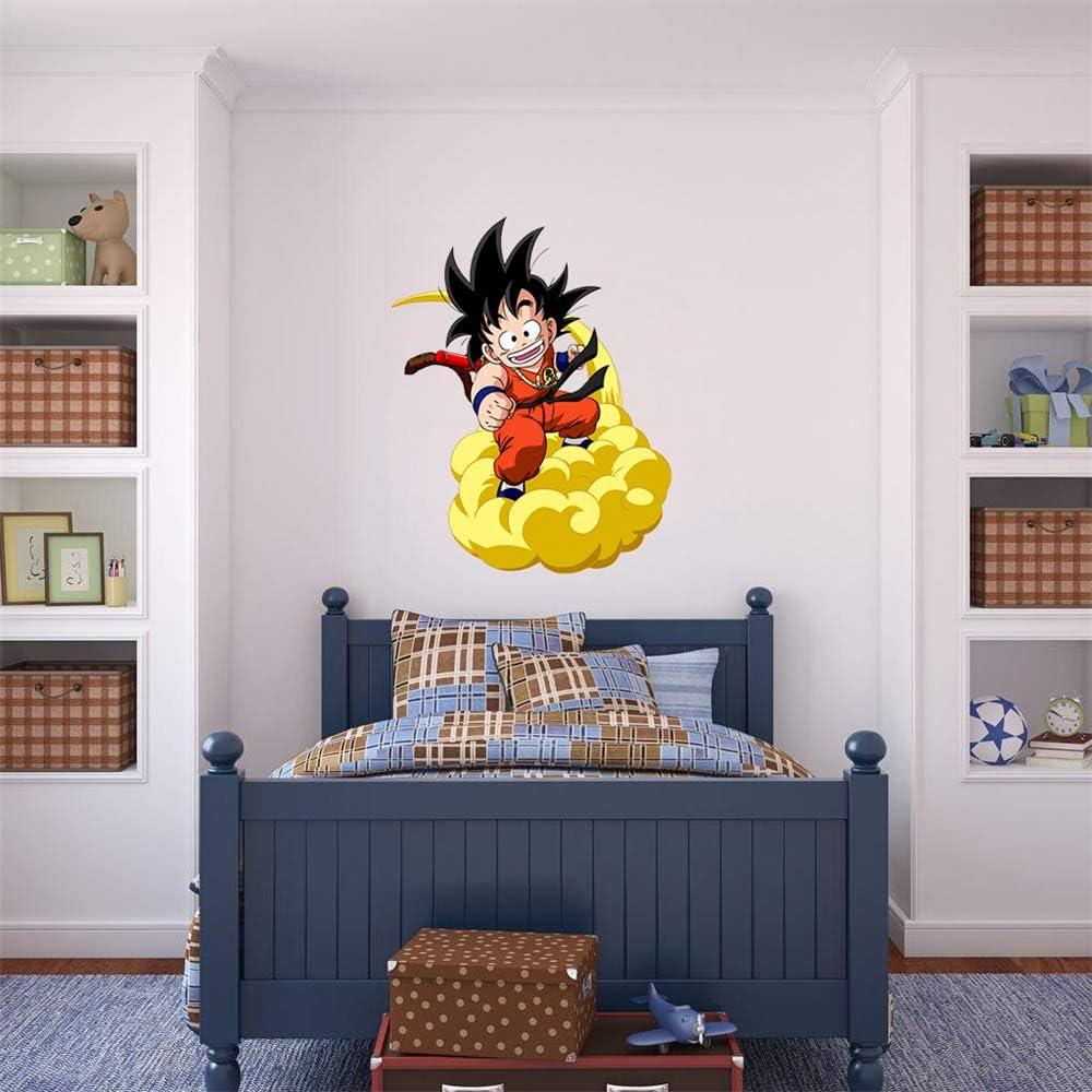 Ewdsqs Dragon Ball Vinyl Wall Decal Super Saiyan Goku Wall Sticker Dragon Ball Z, DBZ Anime Wall Art Decor