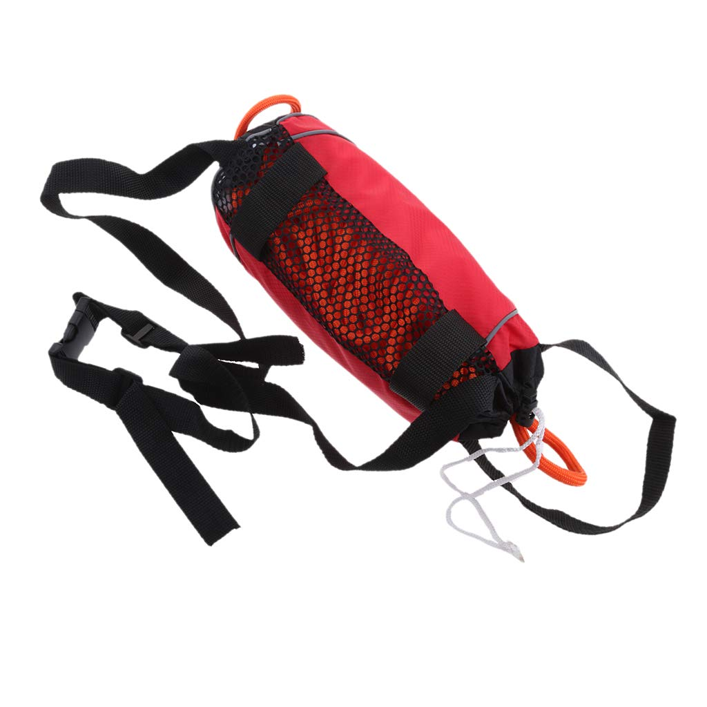 Flameer Red 85ft Safety Water Reflective Rescue Throw Bag Floating Rope Line Kit by Flameer (Image #7)