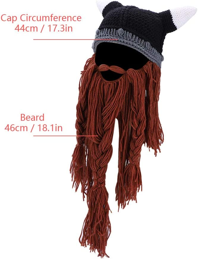 Beard Knitted Hat Beret Beanie Cap Pirate Style Winter Warm Hat for Winter