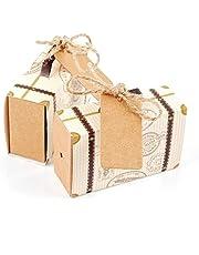 JZK Scatola portaconfetti scatolina bomboniera segnaposto portariso per matrimonio compleanno comunione nascita Natale festa