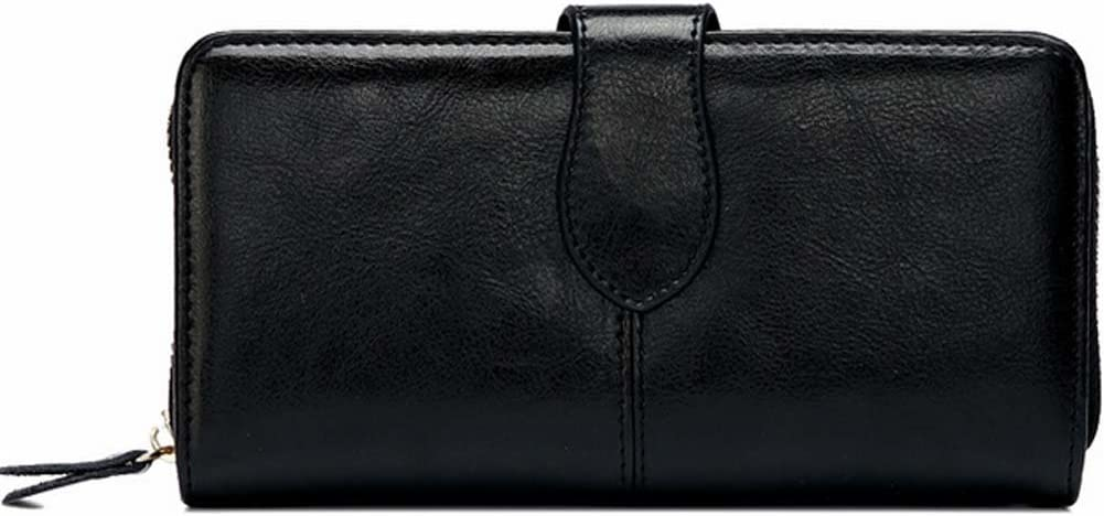 Yoboko Women Soft Genuine Leather Water Proof Rfid Card Case Wallet Black
