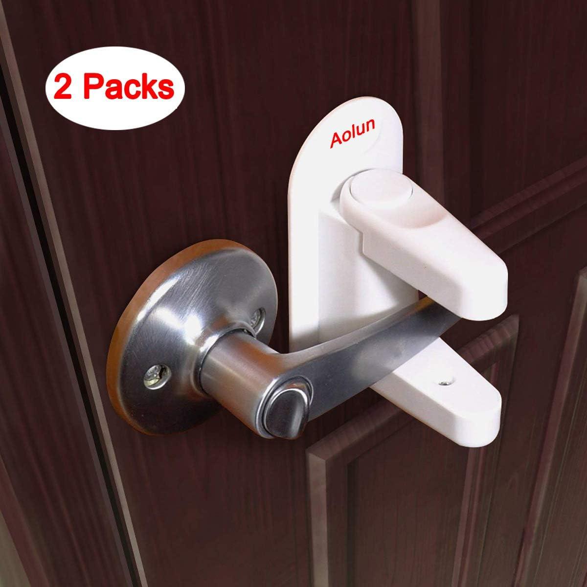 Candado para palanca de puerta (2 paquetes), manilla de bloqueo para niños, adhesivo 3M, mantiene al bebé fuera