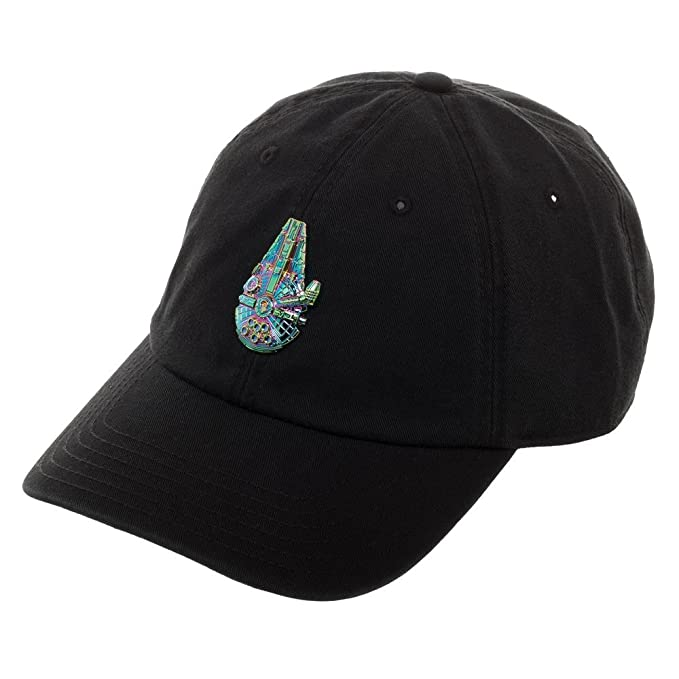separation shoes 0e97b 9d806 Image Unavailable. Image not available for. Color  Disney Star Wars  Millennium Falcon Dad Cap, Black Hat with Embroidered Spacecraft ...