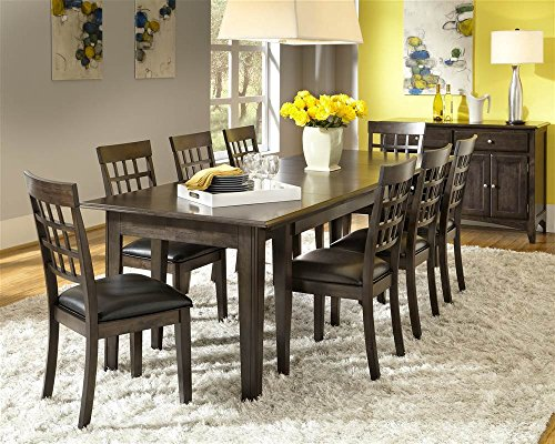 """A-America Bristol Point 132"""" Rectangular Dining Table with (3) 24"""" Leaves, Warm Grey"""