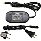 HQRP AC Adapter / Power Supply compatible with Fuji FujiFilm FinePix S6500fd, S700, S7000, S8000fd Digital Camera with USA Cord & Euro Plug Adapter