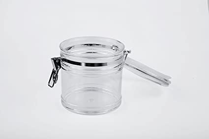 Amazoncom Clear Acrylic Airtight Jar Canister with Locking Clamp