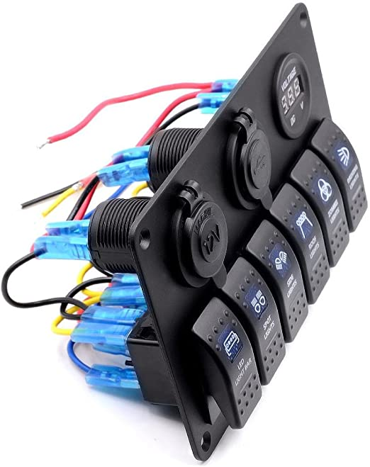Hansee IP68 Interrupteur /à bascule/6/bandes /étanche pour voiture et bateau