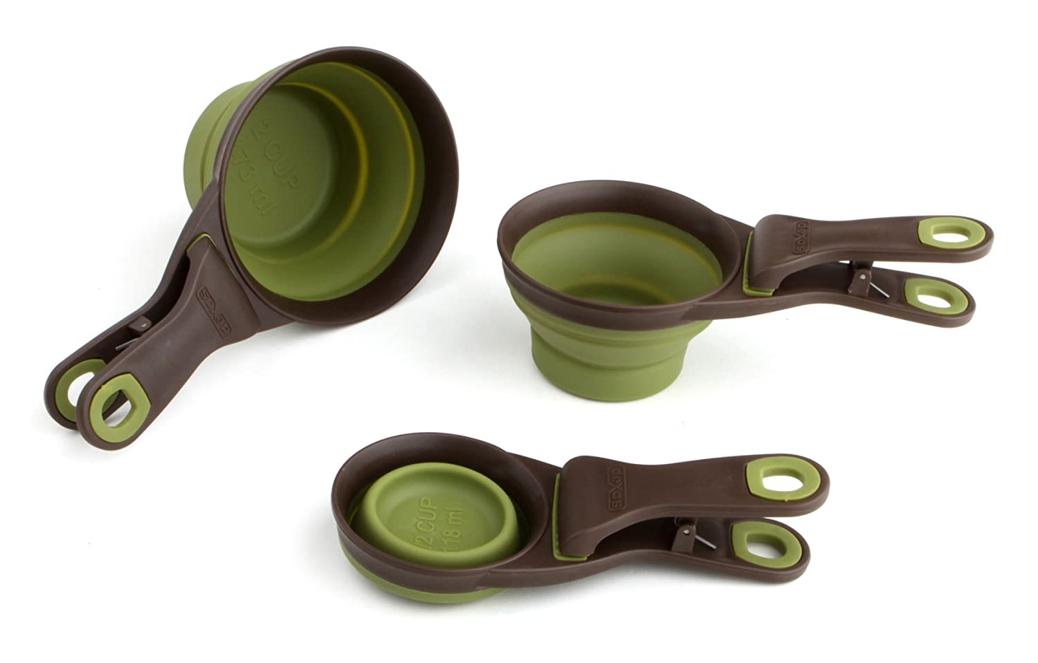 Green 1 2 Cup Green 1 2 Cup Dexas 1 2-Cup Collapsible Klip Scoop for Pets, Green