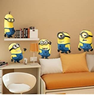 Techmac Minions Wall Stickers  Peel and Stick  Cute Cartoon Wall Stickers   Minions. Amazon com  Roommates Rmk2081Gm Despicable Me 2 Minions Giant Peel