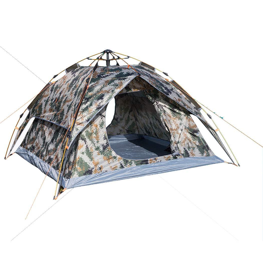 屋外の34人用二重使用二重使用自動迷彩テント防風防雨日焼け止めキャンプテント外側のアカウントは単独で使用することができます200 * 230 * 140 cm (サイズ さいず : 3-4 people) 3-4 people  B07NJPY8KB