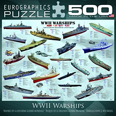 World War II Warships Puzzle, 500-Piece: Toys & Games