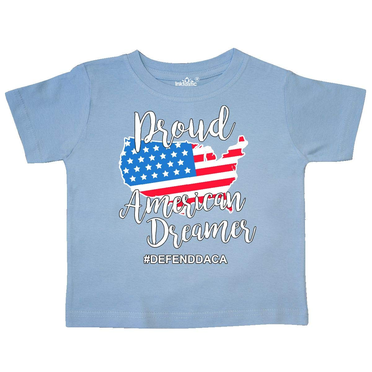 inktastic Proud American Dreamer with America Flag As United Toddler T-Shirt