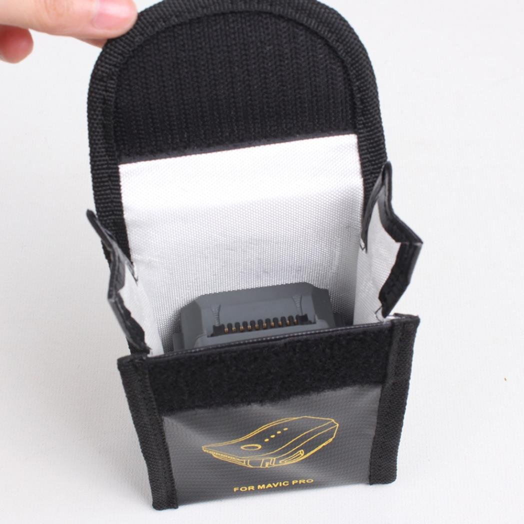 Malloom Ign/ífugo explosionproof Fibra de vidrio RC Lipo bater/ía seguridad bolsa guardia de seguridad bolsa para DJI Mavic Pro 1 Pc