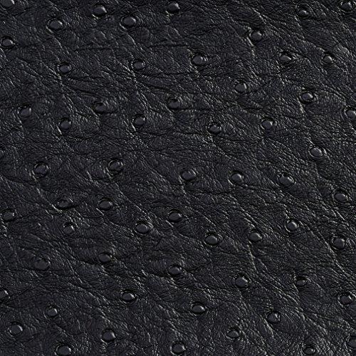 G703 Black Ostrich Emu Outdoor Indoor Marine Vinyl by The -