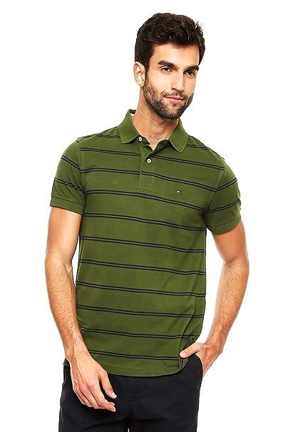 Tommy Hilfiger Playera tipo Polo Verde Polo para Hombre Verde Talla ... 6d89bd749c1b1