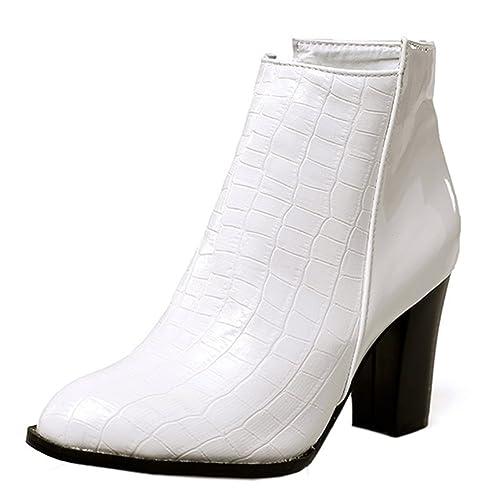 Easemax Femme Mode Chaussure Montante Talon Bloc Bottines  Amazon.fr ... 1b80161f6ae3