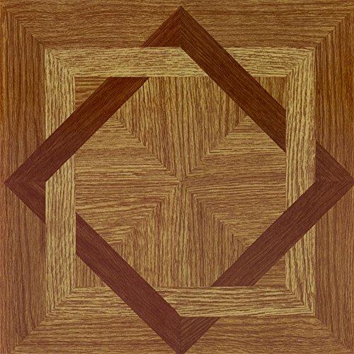 Achim Imports FTVWD22445 Tivoli Light Oak Plank-Look 12x12 Self Adhesive Vinyl Floor Tile-45 Tiles/45 sq. ft. , Piece