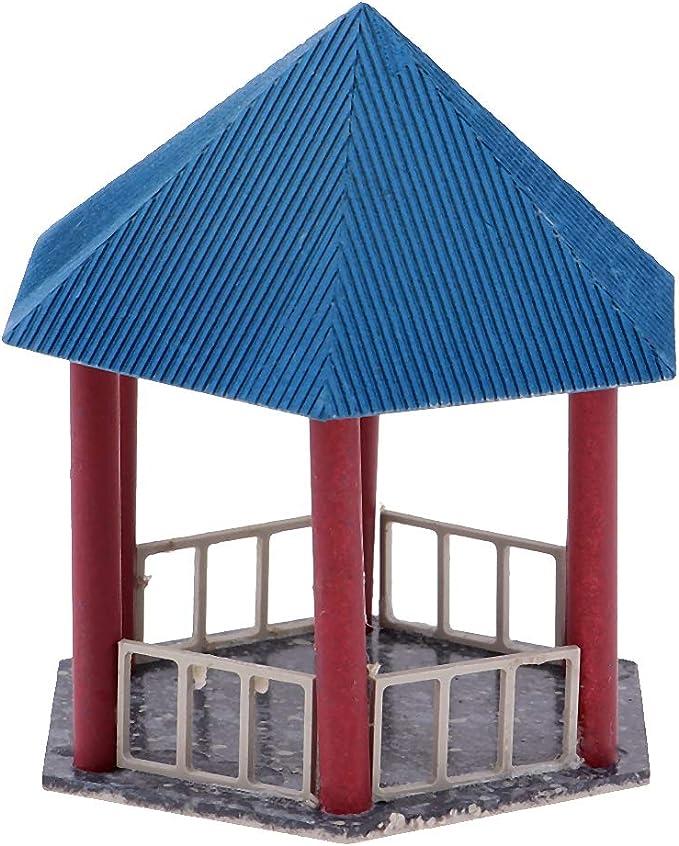 Homyl Mini Modelo Pabellón Chino en Miniatura para Escena de Mesa ...