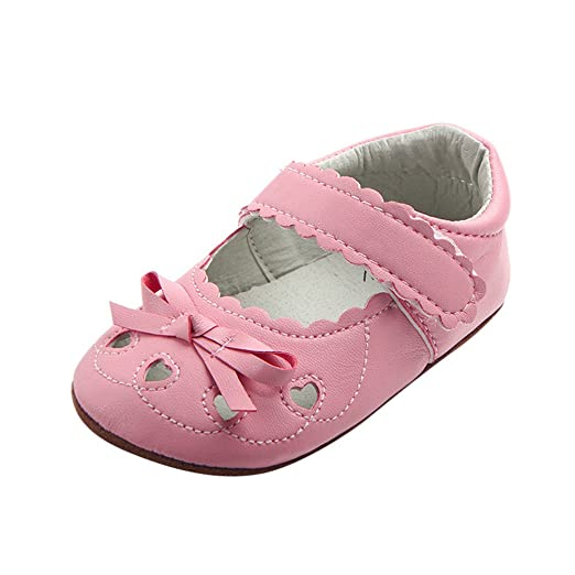 Baby Girl Soft Sole Shoes Dots Bowknot Toddler Anti-slip Shoes Newborn To 12m Baby Shoes