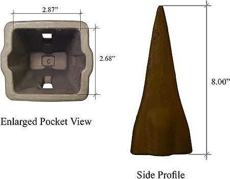 X290 Hensley Style Parabolic Standard Dirt Teeth w// Flex Pins 6 290 series
