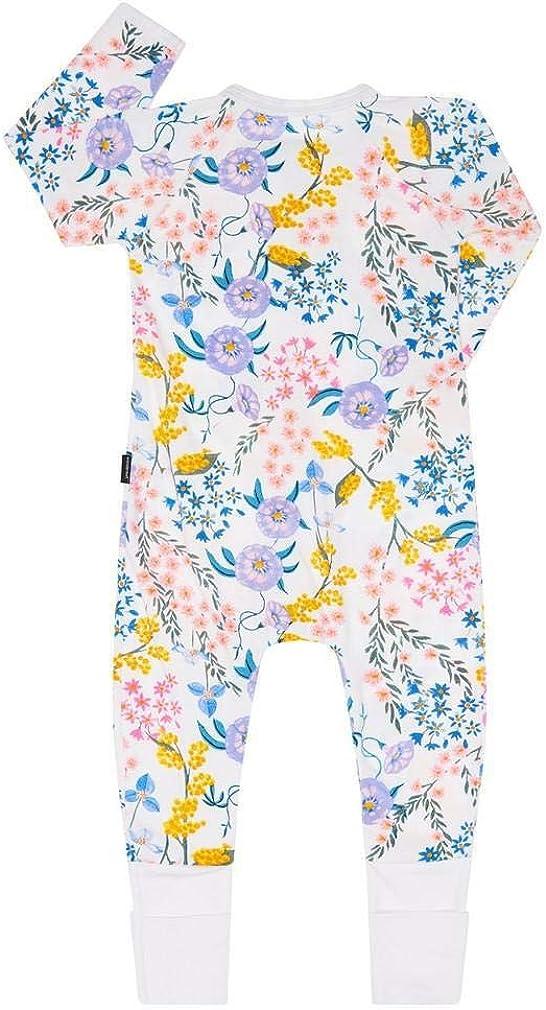 Wendys Wildflowers White Bonds Zip Wondersuit 6-12 months 76 cm
