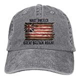 Fashion Baseball Caps Hats Adults Make America Great Britain Again Adjustable Casual Cool Baseball Cap Retro Cowboy Hat Cotton Dyed Caps