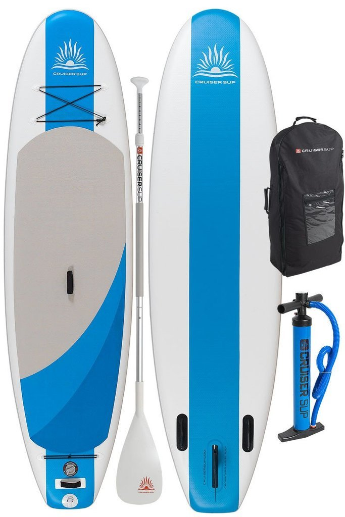 Cruiser SUP Crossover Air SL 11'6'' Inflatable Stand Up Paddle Board | All Around Performance | Supports up to 300 Pounds | Includes Dual Action Pump, Carry Bag, Fins, and Travel Paddle