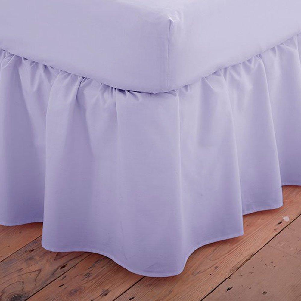 Charlotte Thomas Poetry Plain Dyed Bed Linen Platform Valance Sheet, Lilac Purple - Single Size HLS Bedding