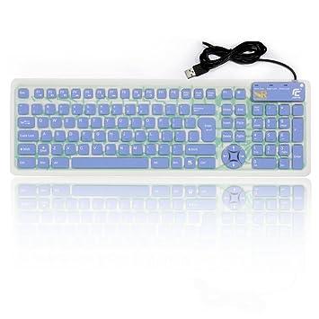 Normia Rita Teclado De Silicona De Tamaño Completo USB Cableado Silencioso Operación Impermeable Suave Plegable Rollup