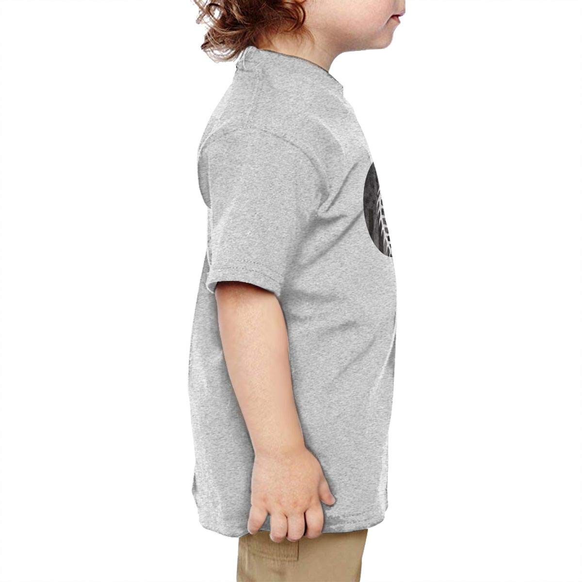 Chunmmmmm Thin Blue Line Softball Lace Baby Boy Short Sleeve Round Neck Cotton T-Shirts