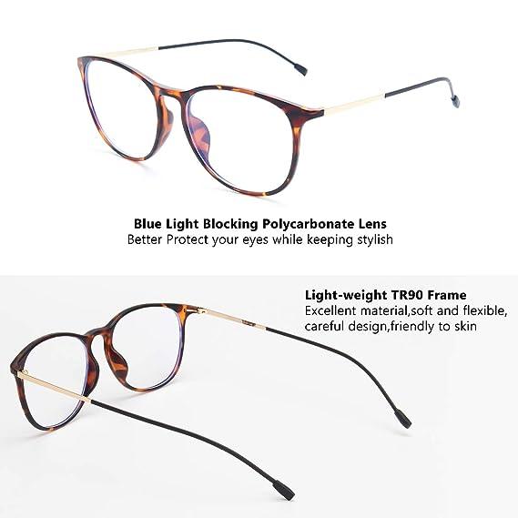 Amazon.com: Livho - Gafas de computadora con bloqueo de luz ...