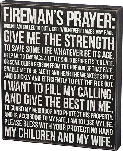 Fireman Wood Sign - Primitives by Kathy Box Sign, Fireman's Prayer